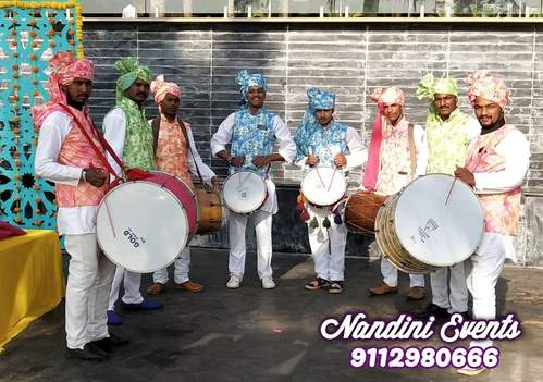 WEDDING ENTRY  BY THE DHOL-WALAS