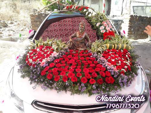 Wedding car decoration with lots of LOVE