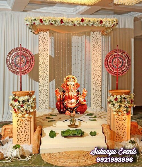 Handcrafted Eco Friendly Ganpati Decoration Online Nandini Events